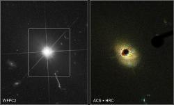 Kvasar 3C 723 na snímku Hubbleova teleskopu. Kredit: NASA/ESA/Wikimedia Commons.