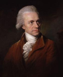 Sir William Herschel. Pomocí hranolu a teploměrů odhalil, že za červeným spektrem musí být světlo, které nevidíme. Kredit Wikipedia, volné dílo.