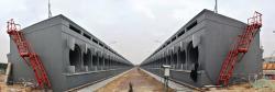 Připravený suchý mezisklad pro nepoškozené palivové soubory ze tří prvních bloků Černobylské jaderné elektrárny (zdroj Černobylská jaderná elektrárna).