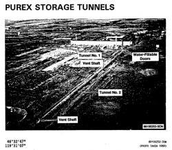 Fotka zmíněných tunelů z roku 1989 (zdroj https://www.osti.gov/scitech/biblio/353264 )