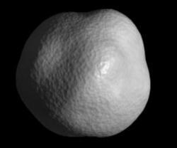 Model planetky 1998 KY26 s rozlišením okolo 3 m vytvořený pomocí radarových a optických měření (zdroj NASA/JPL).