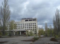 Hotel v Pripjati, který se také objevil v seriálu (Autor: Vladimír Wagner).