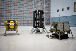 Tři schválené přistávací měsíční moduly soukromých firem (zdroj NASA).