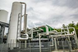 Úložiště energie využívající zkapalněný plyn u města Bury (zdroj Highview Power).