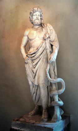 Asklepios   (Epidauros Museum, Foto: Michael F. Mehnert,  licence CC BY-SA 3.0 via Wikimedia Commons)