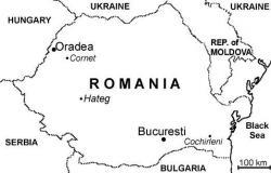 Geografická poloha rumunského městaHaeg, v jehož okolí jsou již od konce 19. století objevovány četné pozůstatky pozdněkřídových organizmů, včetně mnoha druhů ptakoještěrů a neptačích dinosaurů. Obří sovy se však v těchto ekosystémech nevyskytovaly. Převzato z Wikipedie.