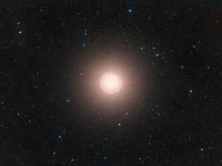 Betelgeuse vzářivějších časech (2010). Kredit: ESO/Digitized Sky Survey 2. / Davide De Martin.