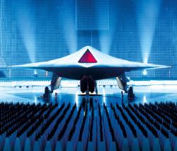 Britský dron Taranis od BAE Systems. Kredit: Tony Garner / BAE.