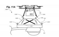 Dobíjecí stanice pro drony na veřejném osvětlení v podání patentu firmy Amazon.