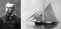 První, komu se podařio proplout průjezdem odGrónskapodél pobřežíSeverní Amerikydo Nomena Aljašce, byl Nor Roald Amundsen. Vyplul v roce 1903 na jachtě Gjøa a do cíle se dostal až po třech letech. (Kredit: Wikipedia, public domain)