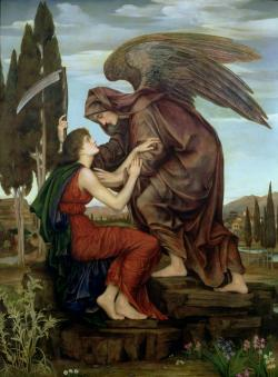 Anděl smrti (1881). Autor: Evelyn De Morgan, Wikipedia)