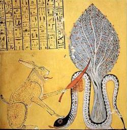 Ra versus Apop vhrobce faraona Ramsese IV. Kredit: Eisnel / Wikimedia Commons.