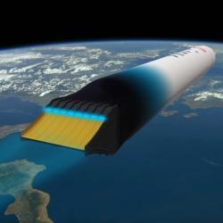 Jednostupňová raketa Haas 2CA SSTO. Kredit: ARCA.