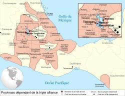 Aztécká říše vroce 1517. Kredit: Yavidaxiu / Wikimedia Commons.
