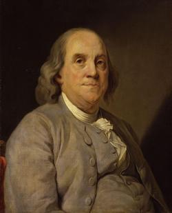 Benjamin Franklin, americký vydavatel, přírodovědec, spisovatel a státník, zakladatel americké demokratické kultury. (Autor: Joseph Siffred Duplessis, volné dílo)