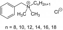 Benzalkonium chloride - one of the replacement triclosan.