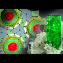 Molekuly vody vberylu kvantově tunelují. Kredit: Jeff Scovil / ORNL.