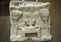 Betlém z Naxu z roku 400. Byzantské muzeum v Athénách. Kredit: Zde, Wikimedia Commons.