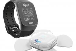 Bezmanžetový náramok Biobeat 501K poskytuje tri dôležité údaje - okrem krvného tlaku aj informácie o pulzovej frekvencii a saturácii krvi kyslíkom. Používa snímanie v infračervenej oblasti aj viditeľného svetla. (Kredit: WT)