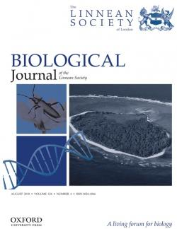 Biological Journal of Linnean Society,  Impact Factor 2,532
