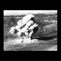 První americký podzemní test Buster-Jangle Uncle, 29. 11. 1951. Kredit: Nuclear Weapon Archive.