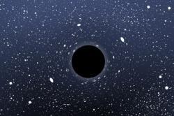 Černá díra. Kredit: Christopher S. Baird.