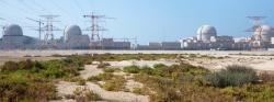 Starší a hezčí fotka elektrárny Barakah bez písečné bouře (zdroj oficiální fotograf KHNP).