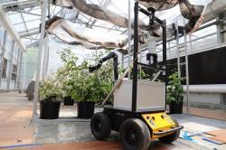 BrambleBee - skleníkový autonomní opylovací robot. Kredit: Gu et al.