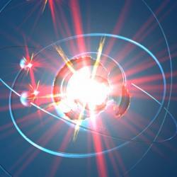 Objeví temnou hmotu Rydbergovy atomy? Kredit: Trenton-Shuck / Deviantart.