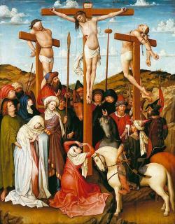 Ukřižování Ježíše Krista (Kredit: Robert Campin, volné dílo)