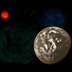 Uhlíková planeta u hvězdy z mladého vesmíru. Kredit: Christine Pulliam (CfA), NASA / SDO.