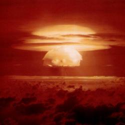 Castle Bravo, 1954. Největší exploze vrežii USA. Kredit: US Department of Energy.
