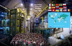 Tým LHCb Collaboration. Kredit: LHCb Collaboration.