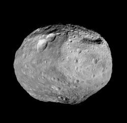 Celkový pohled na planetku Vesta pořízený sondou Dawn (zdroj NASA).