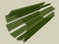 Stěny centrioly jsou složené z mikrotubulůuspořádaných kruhově. Tvoří je tubulin.  Kredit: Twooars, Wikipedia.org. Licencováno pod CC BY-SA 3.0