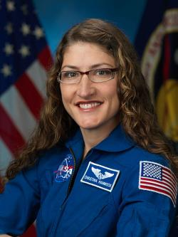 Christina Koch. Kredit: NASA.