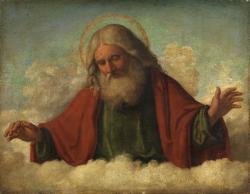 Bůh otec, Giovanni Battista Cima (Kredit: The Courtauld Institute of Art, Somerset House, Strand, London, veřejné dílo)