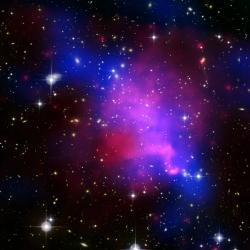 Jaké tajemství ukrývá temná hmota? Kredit: NASA / CXC/ CFHT / U. Victoria / A. Mahdavi et al.