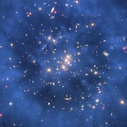 Vysmívá se nám? Údajný prstenec temné hmoty vkupě galaxií Cl 0024+17. Kredit: NASA, ESA, M.J. Jee & H. Ford (Johns Hopkins University)