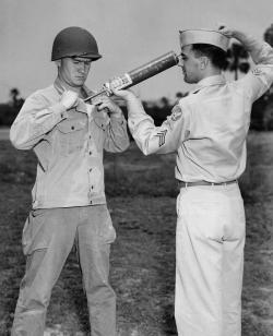 Za druhé světové války se vojáci před malarickými komáry chránili posypem DDT. (Kredit: CDC)