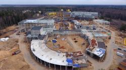 Stavba urychlovačového komplexu NICA v SÚJV Dubna. Foto archiv SÚJV