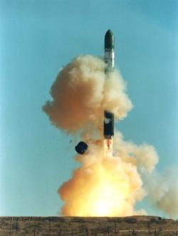 Start rakety Dněpr.  Zdroj: https://upload.wikimedia.org
