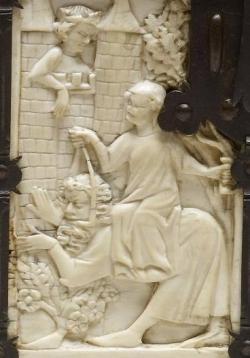 Aristotelés osedlaný hetérou Fillis. Kredit: Walters Art Museum (Baltimore), Wikimedia Commons.