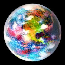 Jak sní neurální síť o Zemi? Kredit: Waldmann / UCL / Gatys.