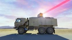 Ilustrace klasického laserového systému se 300 kW kontinuálním laserem. Kredit: Dynetics.