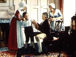 Edward Jenner očkuje dítě. Kredit: Orthopoxviridae / Wikimedia Commons.