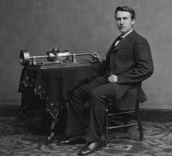 Vinný kokainový životabudič si oblíbil i vynálezce fonografu a žárovky Thomas Alva Edison. Kredit Wikipedia,volné dílo)