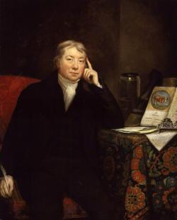 Edward Jenner (1749-1823), anglickýdedinskýlekár, ktorý sa preslávil zavedením prvejvakcínyprotikiahňam. Kredit: James Northcote, Wikipedia.