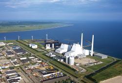 Elektrárna Avedoere v Dánsku přešla také ze spalování uhlí na biomasu (zdroj Dong Energy).