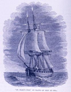 Oheň svatého Eliáše na lodi. Kredit: Dr. G. Hartwig, London, 1886 / Wikimedia Commons.